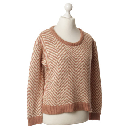 Ganni Sweater with herringbone pattern