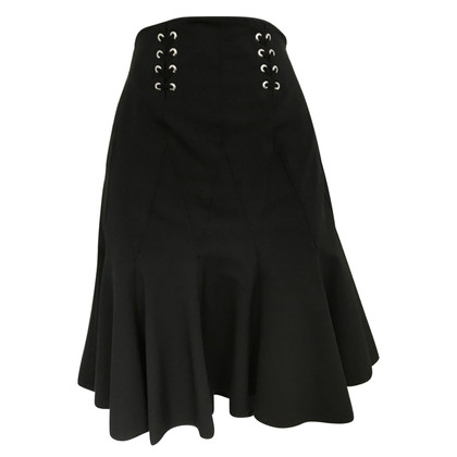 Karen Millen Mini skirt with black eyelets