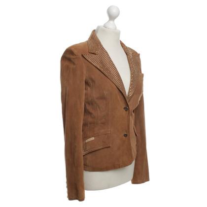 Dolce & Gabbana giacca scamosciata in Tan
