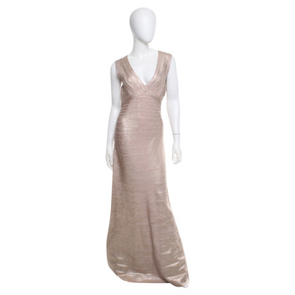 Hervé Léger Evening dress in rose-metallic