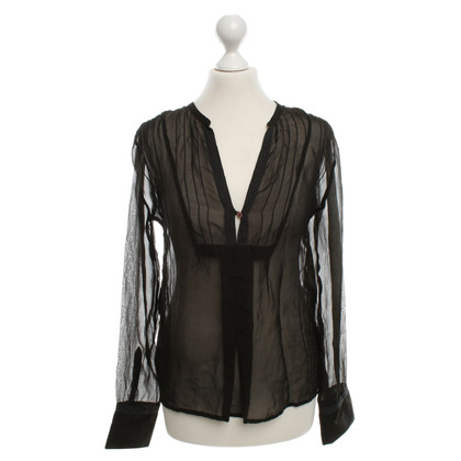 Zadig & Voltaire Silk blouse with lace ribbons