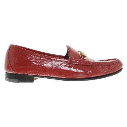 Gucci Mocassini in pelle rossa di brevetto
