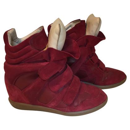 Isabel Marant Etoile Bekett Wedge-Sneakers aus Veloursleder