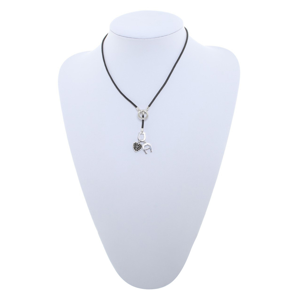 Aigner Necklace with logo-pendant