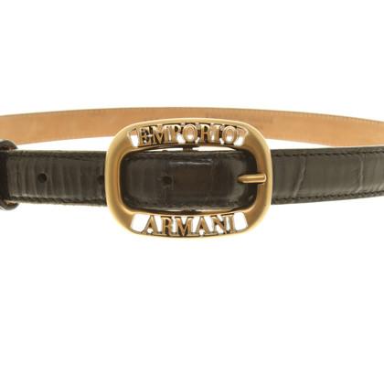 Armani Leather belt in black