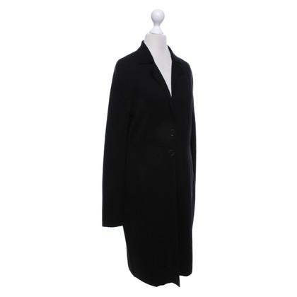 René Lezard Manteau tricoté en noir