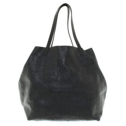 Carolina Herrera Leather Hopper in Black
