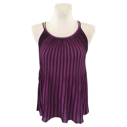 Stefanel purple knit top