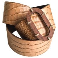 Valentino Crocodile leather belt