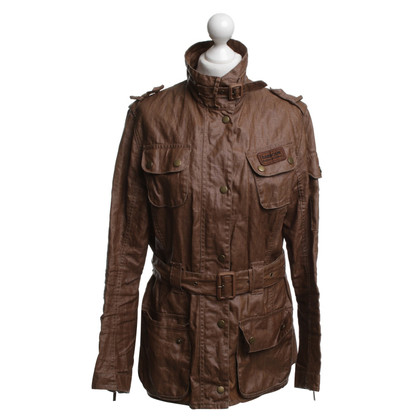 Barbour Wachsjacke in Ocker
