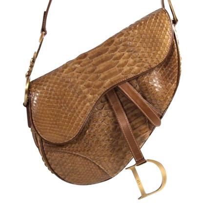 """Christian Dior """"Saddle Bag"""" aus Pythonleder"""