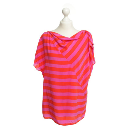 Laurèl Silk top with stripe pattern