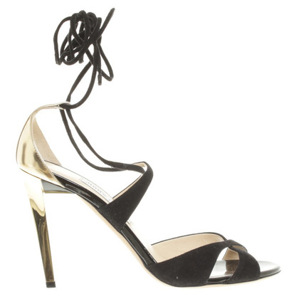 Jimmy Choo Sandaletten in Schwarz/Gold