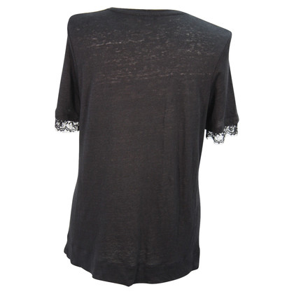 Whistles Linen top in black