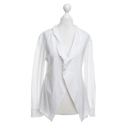 Jil Sander White blouse with ruffles indicated