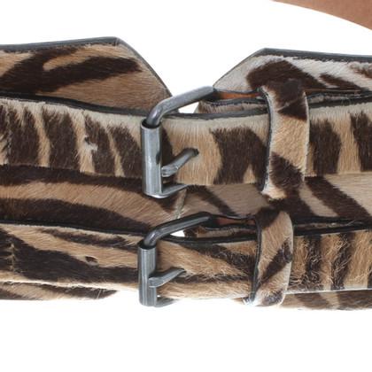 Plein Sud Gürtel mit Zebra-Print