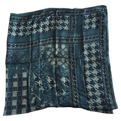 Balmain Sjaals in blauw cachmir