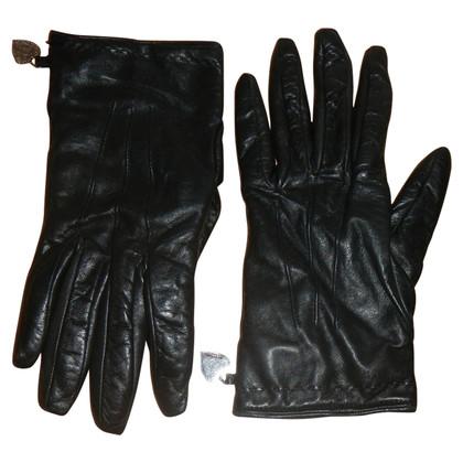 Moschino leren handschoenen