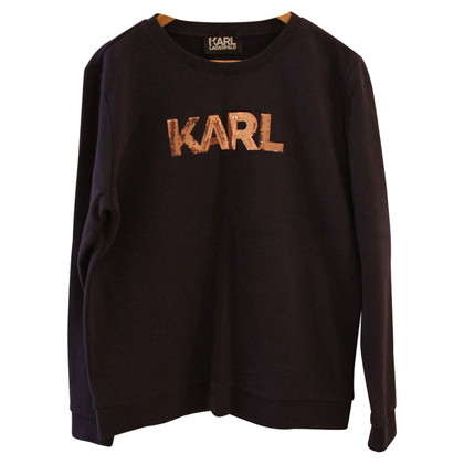 Karl Lagerfeld Sweat avec bordure de paillettes