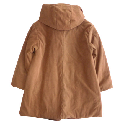 Max Mara Oversized puffer jacket in brick color