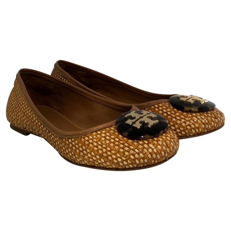 ... Tory Burch Ballerinas made of raffia fabric ...