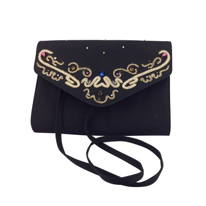 Casadei Black bag with ornaments