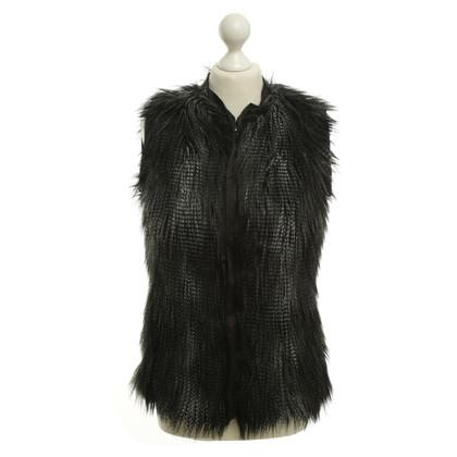 H&M (designers collection for H&M) Gilet de fourrure en noir