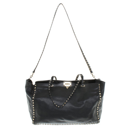 Valentino '' Rockstud Shopper '' in black