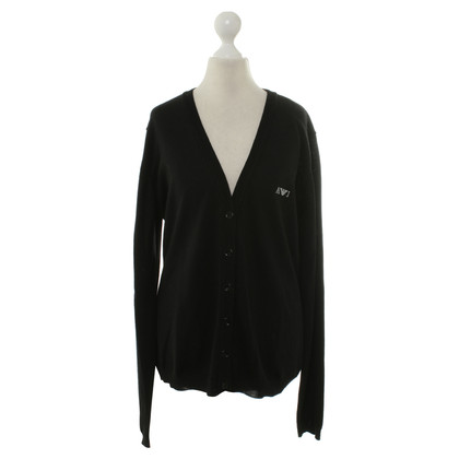 Armani Jeans Strickjacke in Schwarz