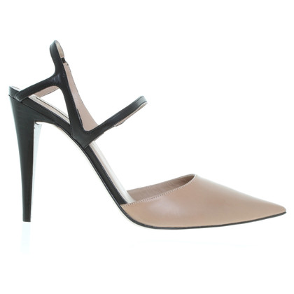Pura Lopez Sling backs in nude/black