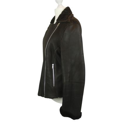 Hache Hache giacca di pelle d'agnello