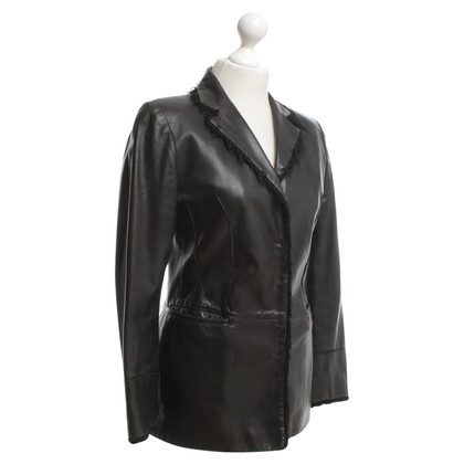 Nusco Leather blazer in black