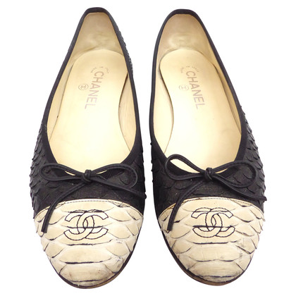 Chanel Reptile leather ballerinas