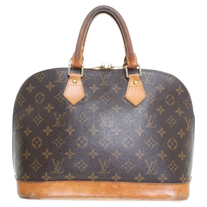 louis vuitton tasche alma canvas monogram second hand louis vuitton tasche alma canvas. Black Bedroom Furniture Sets. Home Design Ideas