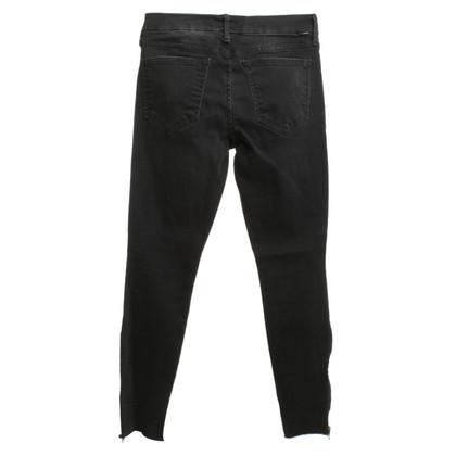 Mother Skinny Jeans en noir