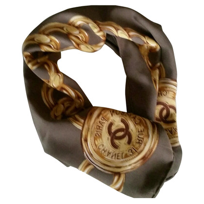 Chanel Silk Rue Cambon Paris scarf