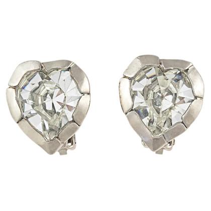 Yves Saint Laurent Heart shaped earrings