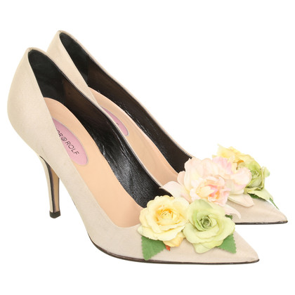 Viktor & Rolf Pumps mit Blumenapplikation