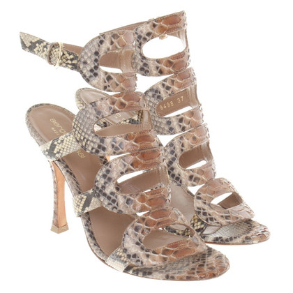 Sergio Rossi Leather Sandals Python
