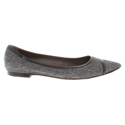 Unützer Ballerinas with herringbone pattern