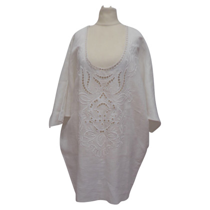 Ermanno Scervino Linen blouse with embroidery