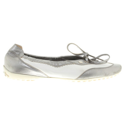 Tod's Lace-up shoes in white / silver