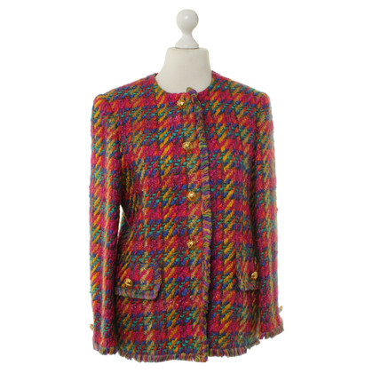 Escada Coat with colorful Web patterns