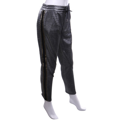 Drykorn Pleated trousers in a metallic look