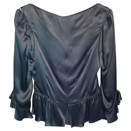 Alexander McQueen Bustier-Bluse aus Seide