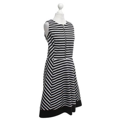 Michael Kors Kleid in Schwarz/Weiß