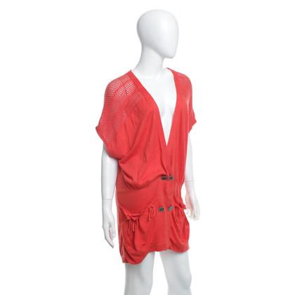 3.1 Phillip Lim Strick-Shirt in Orange-Rot