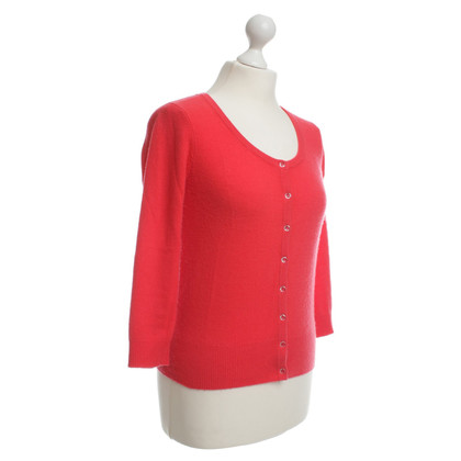 Joe Taft Cachemire Cardigan rouge