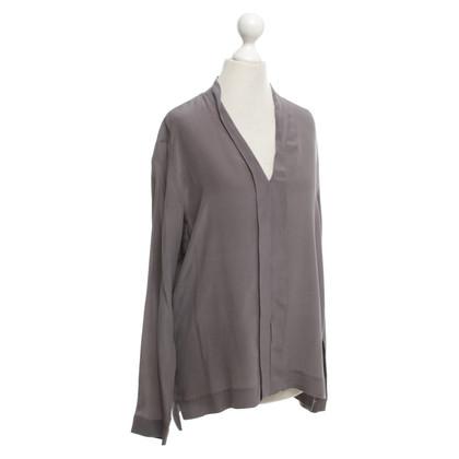 Drykorn Antraciet gekleurde zijden blouse