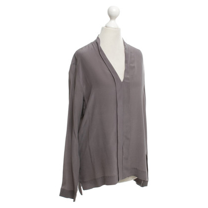 Drykorn Anthracite silk blouse